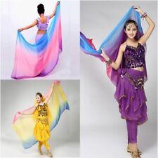 New Colorful Belly Dance imitated silk veil shawl scarf Big Shawl gauze Costume