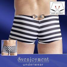 Svenjoyment Push-Up Hipster Pants Streifen Handschellen hinten 2-farbig in S-2XL