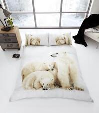 3D Animal Polar Bear Premium Duvet Cover Bedding Set
