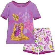 Disney Store Princess Rapunzel Tight Fit Cotton Pajama Set Girl Size 6 7 8