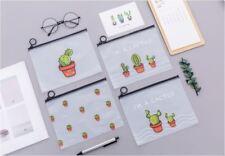 Cactus PVC Pencil / Pen Stationery Case Pouch Bag Comestic Tool Storage Holder