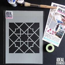 Marocchino Tile Stencil Pattern pittura Artigianale Arredamento Casa Muri tessuti Furniture