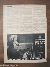 Pubblicità 1940 originale FERNSPRECHEN FERNMELDEN FORDERN MIX & GENEST telefono