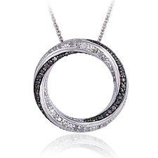 0.50ct TDW Black or Blue & White Diamond Eternity Necklace