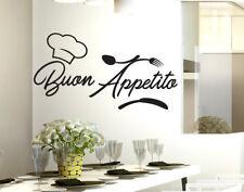 Stickers adesivo murale adesivi murali per cucina buon appetito da parete wall