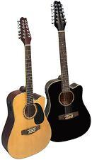 Gitarre/Westerngitarre-12Saiten-Dreadnought-TonabnehmerEQ-Anschlußkabel-2Modelle