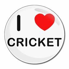 I Love Cricket-tondo Specchio in vetro compatta 55mm/77mm badgebeast
