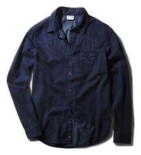 Adidas Men's Denim Shirt Long Sleeve Neo Label Shirts - Dark Blue - S90307