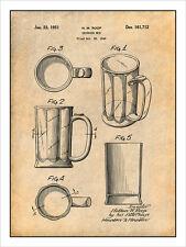 1949 Beer Mug Patent Print Art Drawing Poster 18 X 24