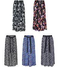 Womens Summer Floral Print Skirt, Viscose Fabric, Elasticated Waist Waist Tie