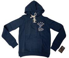 St. Louis Blues SAAG WOMEN Navy Soft Lace Up Fleece Pullover Hoodie Sweatshirt