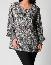 Yarra Trail Ladies Fashion Long Sleeve Top sizes 16 22 Colour Black Print