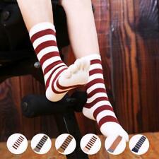 3 Pairs Women Cotton Five Finger Toe Striped Socks Couple Breathable Socks