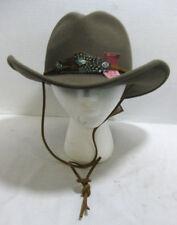 Wool Felt Country Western Fedora Bucket Hat Crushable Bender Brim Choose Size
