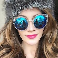 Large Bohemian Cat Eye Round Hippie China Doll Fashion Sunglasses Glasses 6734 L