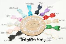 2 Petite Flat Glitter Girl Bow DIY Embellishment craft hair accessories supply