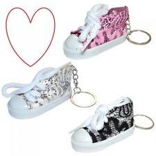 converse style keyring glitter shiny shoe hightop