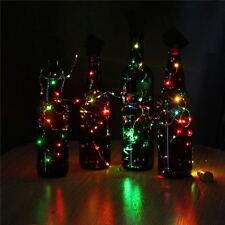 Mode LED Nachtlicht Sternenhimmel Weinflasche Lampe Für Hochzeit Xmas Dekor