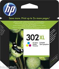HP No 302XL Tri Colour Original OEM High Capacity Inkjet Cartridge F6U67AE
