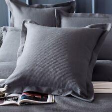 New 100% cotton Luxury Waffle European Pillowcase Cushion cover Grey Color
