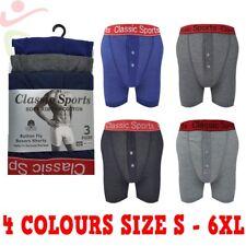6 12 para Hombre Clásico Costilla Suave Algodón Cintura Boxer Shorts Underwear Rojo Lote S-6XL