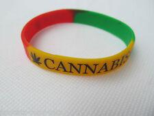 Moda Adulto Colori Rasta cannabis marajuana fascia di gomma in silicone da polso uksell