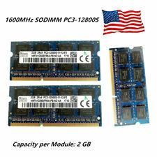 For Hynix 2GB 4GB 8GB 2RX8 PC3-12800S DDR3-1600MHz SODIMM Laptop Memory RAM USA