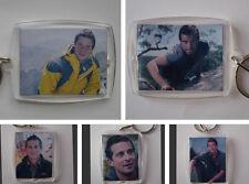 Edward Michael Bear Grylls, Photo Keyring / bag tag, clear plastic,