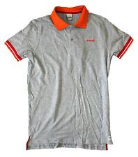 ERREA REPUBLIC Greg melange grey polo shirt mc ad men's polo uomo grigio melange