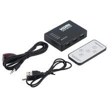 5 Port 1080p HDMI Switch Selector Spliter Hub Interconnect iR Remote For HDTV ☪F