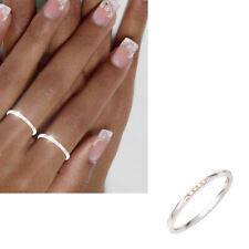 Diamanten Ring schmal 585er echt Gold 14 Karat Weißgold schlicht Gr. 50-60 Damen