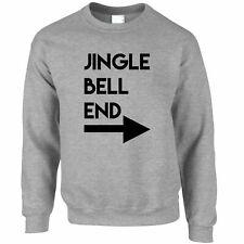 Mens Funny Rude Christmas Jumper Jingle Bell End & Arrow Joke Adult Bad Xmas