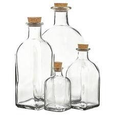3 6 9 12 Bottiglia di Vetro barattoli FIALE SUGHERO COPERCHIO TAPPO DA CUCINA Food Storage OLIERA