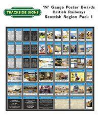 N Gauge 2mm - Die Cut Model Railway Posterboards - British Railways All regions