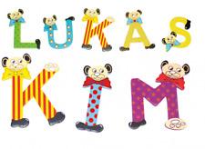 Holzbuchstaben Bären ABC, bunte Buchstaben aus Holz