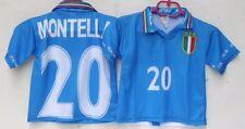 1 MAGLIA ITALIA-MONTELLA 20-NON CONFORME ALL'ORIGINALE-ANNI 4-LUNG. 45/SPALLE 34