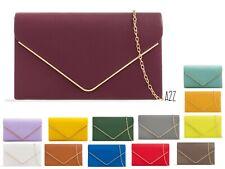 Women's Envelope Clutch Bag Faux Leather Evening Bag Handbag Purse wedding Party