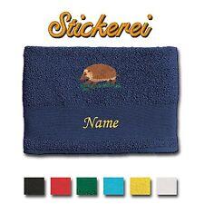Handtuch Duschtuch Badetuch Baumwolle bestickt Stickerei Igel + Name
