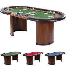 XXL Pokertisch ROYAL FLUSH, 213 x 106 x 75cm, Casino Poker Tisch Getränkehalter