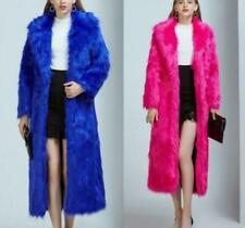 Women Winter Coat Long Faux Fox Fur Coat Elegant Female Coat Plus Size SZ us