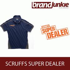 SCRUFFS NAVY ACTIVE PRO ZIP POLO Hardwearing Work Shirt