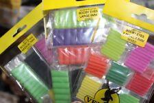 Fly Tying Veniard Mixed Booby Eyes Foam Tubes 3 widths 11 colours