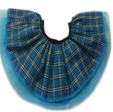 NEON TUTU TARTAN KILT SCARF 80S FANCY DRESS PUNK GOTHIC CLUB WEAR BLUE PURPLE