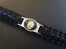 Thin Blue Line *  Paracord Bracelet * LAPD * Police * Blue & Black *