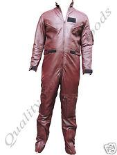 Su Misura in Pelle Sintetica Premium Tuta di volo militare Costume Fantasia Bluff
