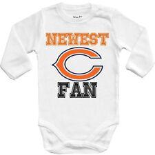 Baby bodysuit Newest fan Chicago Bears football One Piece jersey