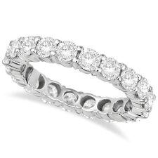 3CT Diamond Eternity Ring 18K White Gold