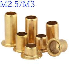 M2.5 M3 Copper Brass Vias Rivet Nuts Through Hole Rivets Hollow Grommets