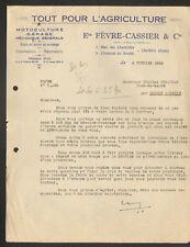 """TROYES (10) TOUT POUR L'AGRICULTURE """"Ets. FEVRE - CASSIER & Cie"""" en 1950"""