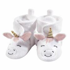 Hudson Baby Girl Fleece Booties, White Unicorn